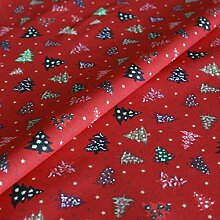 Hans-Textil-Shop Stoff Meterware Weihnachtsbäume