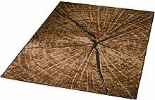 Hanse Home 102127 Teppich, Polyamid, braun, 140 x 200 cm
