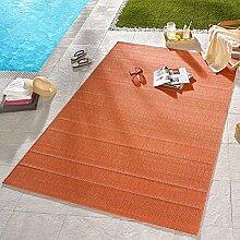 Hanse Home 102365 In- und Outdoor Teppich, Polypropylen, terracotta, 160 x 230 x 0.8 cm