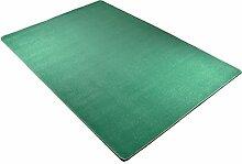 Hanse Home 102367 unifarben Teppich Läufer Brücke Bettumrandung Stufenmatten Treppenschoner, türkis, 200 x 300 cm