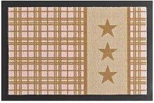 Hanse Home 102514 Fußmatte, Polyamid, beige / rosa, 40 x 60 x 0,7 cm