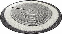 Hanse Home 102656 Teppich, Polyamid, grau, 133 x 133 cm