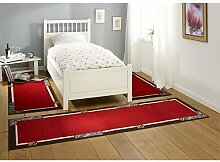 HANSE Home Design Bordüre Rot Grau 3-teilige