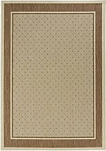 Hanse Home Flachgewebe Teppich Indoor Classy, Polypropylen, Braun, 200 x 290 x 0.8 cm
