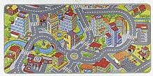 Hanse Home Spielteppich Kinderteppich Smartcity, Polyamid, Grau, 160 x 240 x 0.65 cm