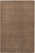 Hanse Home Teppich Uni Niedrigflor Fancy, Polypropylen, Braun, 160 x 240 x 0.7 cm