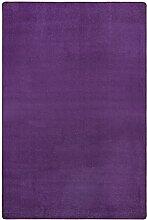 Hanse Home Teppich Uni Niedrigflor Fancy, Polypropylen, Lila, 80 x 300 x 0.7 cm