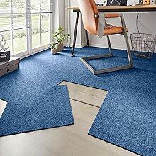 Hanse Home Teppichfliesen-Set Easy Blau Meliert,