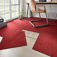 Hanse Home Teppichfliesen-Set Easy Rot Meliert,