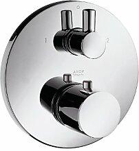 Hansgrohe Wannen Armatur Axor Steel Unteputz mit Ab- und Umstellventil edelstahl-optik 38720800