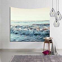 HANSHI Wandteppich Kakteengewächse Wald Mond Tropischer Wandteppich Schöne Dekoration für Ihr Zimmer 4 verschiedene Farben zu wählen HYC05 (Welle)