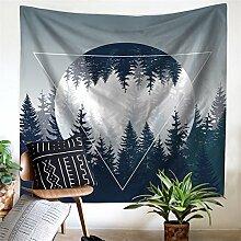 HANSHI Wandteppich Kakteengewächse Wald Mond Tropischer Wandteppich Schöne Dekoration für Ihr Zimmer 4 verschiedene Farben zu wählen HYC04 (Wald)