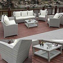 Hansson Garten Lounge Sitzgruppe Polyrattan Sofa