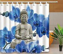 HANYULIAN Duschvorhang Bad Duschvorhänge Buddha