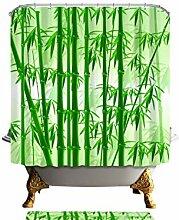 HANYULIAN Duschvorhang Duschvorhänge Bambus Mit