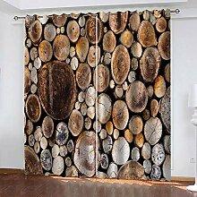 Hanzeze Verdunklungsgardine Holz B234xL183cm 3D