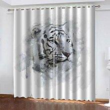 Hanzeze Verdunklungsgardine Tigertier B336xL183cm