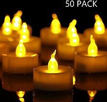 HANZIM LED Kerzen, 50 LED Teelichter Kerzen