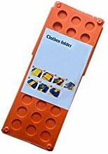 Haodasi Schnell Einfach Magie Kleider Mappe Hose Handtücher Wäscherei Lagerung Umklappbar Board Werkzeuge Size S Color Orange