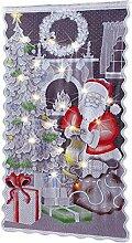 haodene Weihnachts Scheibengardine Keine LED