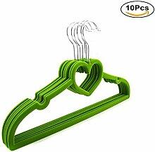 Haodou 10PCS Herzförmig Kleiderbügel Samt