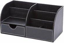Haodou Aufbewahrungsbox aus schwarzem Leder
