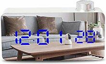 HAOHAO LED Knopf Spiegel Wecker, Multifunktional