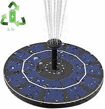 Haoky Solar Springbrunnen Runde Solar Vogeltränke