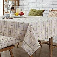 HAOLIA Baumwoll-Leinen-Tisch Tisch Tisch Tisch Tisch Tisch Tisch rechteckig runde Tischdecke Tischdecken ( größe : 135*180cm )
