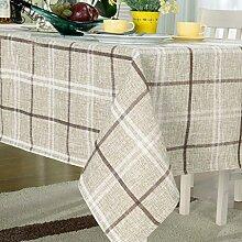HAOLIA Baumwolle Und Leinen Stil Gittertischdecke Rechteckige Tisch Runder Tisch Tischtuch Teetisch Tischdecken ( größe : 90*90cm )