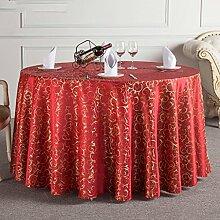 HAOLIA Hotel Runde Tischdecke Tee Tischdecke Tischdecken ( größe : 260cm )