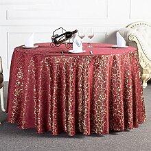 HAOLIA Hotel Runde Tischdecke Tee Tischdecke Tischdecken ( größe : 320cm )