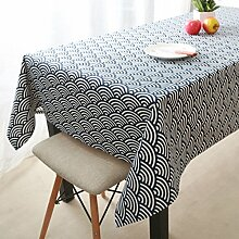 HAOLIA Jane Europäische Traditionelle Retro Baumwolle und Leinen Tischdecken Tischdecken ( größe : 140*220cm )