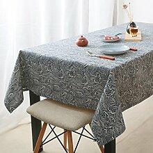 HAOLIA Jane Europäische traditionelle Retro-Baumwolle und Leinen Tischdecken Tischdecken ( größe : 140*300cm )
