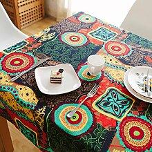 HAOLIA Nationale Stil Retro-Baumwolle und Leinen Tischdecke Tisch Tischdecke Tischdecken ( größe : 110*170cm )