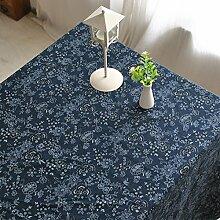 HAOLIA Pastoral Baumwoll Leinen Tischdecke Tischdecken ( größe : 140*220cm )