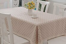 HAOLIA Pastoral Leinen Stil Tischdecke Tischdecken ( größe : 130*180cm )