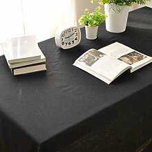 HAOLIA Pure schwarze Leinen Tischdecke Tischdecken ( größe : 135*300cm )