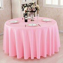 HAOLIA Verdickte Hotel Round Tisch Tischdecke Rechteck Square Round rosa Tischdecken ( größe : 200cm )