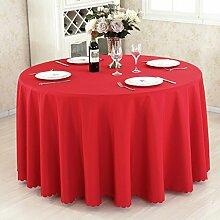 HAOLIA Verdickte Hotel Round Tisch Tischdecke Rechteck Square Round rot Tischdecken ( größe : 260cm )