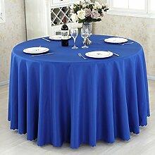 HAOLIA Verdickte Hotel rund Tisch Tischdecke Rechteck quadratisch rund blau Tischdecken ( größe : 240cm )