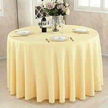 HAOLIA Verdickte Hotel rund Tisch Tischdecke rechteckig quadratisch rund gelb Tischdecken ( größe : 180*180cm )