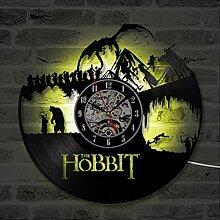 HAOLY Hobbit-wanduhr,LED-wanduhr,Vinyl Record