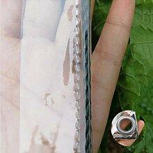 HAOMENGG wasserdichte Transparente PVC Plane Mit