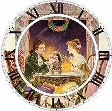HAOTTP Uhr Schönheit 5D DIY Diamant Malerei