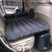 HAOXIAOZI Aufgeteiltes Art-aufblasbares Bett SUV-Auto-Beflockungs-Reise-Bett,Black