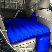 HAOXIAOZI Aufgeteiltes Art-aufblasbares Bett SUV-Auto-Beflockungs-Reise-Bett,Blue