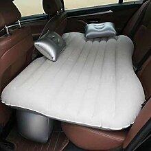 HAOXIAOZI Auto-Bett-starkes Beflocktes Tragbares Aufblasbares Bett-Reise-Bett,BeigeA
