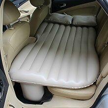 HAOXIAOZI Auto-Bett SUV Aufblasbares Bett Hinterer Sitz Im Freien Reise-Bett Erwachsene Schlafmatte,Beige
