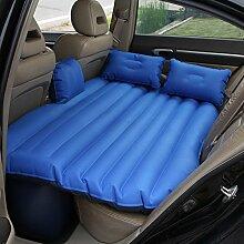 HAOXIAOZI Auto Camping Rear Seat Aufblasbares Bett Outdoor-reisen Beflockung Luftbett,Blue